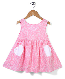 Bee Bee Flower Print Dress - Pink