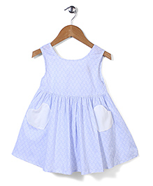 Bee Bee Leaf Print Dress - Blue