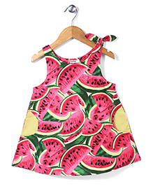 Bee Bee Watermelon Print Dress- Pink