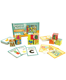 Fat Brain Toys Smarty Blocks - Multicolor