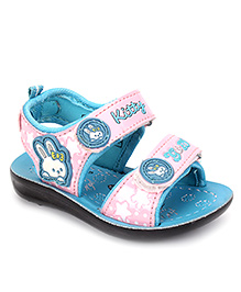 G & D Sandal With Dual Velcro - Pink & Aqua