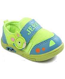 G & D Casual Shoes Animal Motif - Green Blue