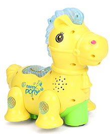 Smiles Creation Musical Lovely Pony With Electric Flash Lights - Yellow