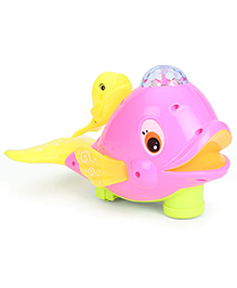 Smiles Creation Naughty Whale With Flash Electric Light - Pink