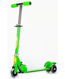 Surya 3 Wheel Scooter With Led Lights - Green