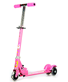 Surya 3 Wheel Scooter With Led Lights -Pink