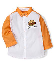 Kidsplanet Burger Print Shirt - Orange