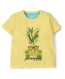 Kidsplanet Pineapple Print T-Shirt - Yellow
