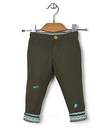 Kidsplanet Insect Applique Pants - Dark Green