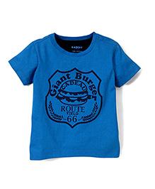 Kidsplanet Giant Burger Print T-Shirt - Blue