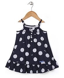 Absorba Dotted Print Fancy Top - Navy Blue