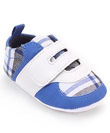 Cute Walk by Babyhug  Check Booties - Blue  White