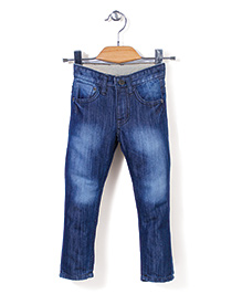 Quick Seven Washed Jeans - Navy Blue