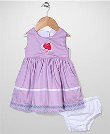 Bebe Wardrobe Ice Cream Print Dress - Purple