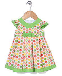 Bebe Wardrobe Flower With Bow Print Dress - Green