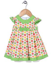 Bebe Wardrobe Flower With Bow Print Dress - Green