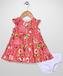 Bebe Wardrobe Floral Print Dress - Red