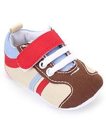 Cute Walk by Babyhug Velcro Closure Booties - Brown Cream