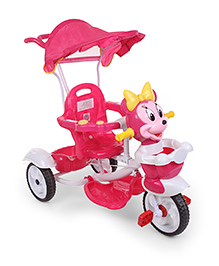 Tricycle With Canopy Minnie Mouse Face Face Design - Pink