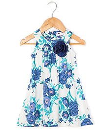 Coo Coo The Alekha Flower Print Dress - Navy Broach