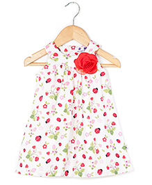 Coo Coo The Alekha Beetle Print Dress - Red Broach