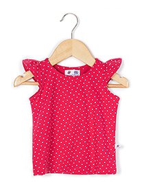 Coo Coo Sleeveless Top Jersey Polka Dots - Dark Pink