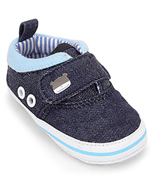 Cute Walk by Babyhug  Baby Booties - Navy