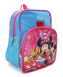 Disney Mickey Mouse Print School Bag Blue - 12 Inches