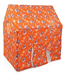 Lovely Play Tent House Music Print - Orange
