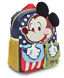 Disney Mickey Mouse Print School Bag Multicolor - 10.6 Inches