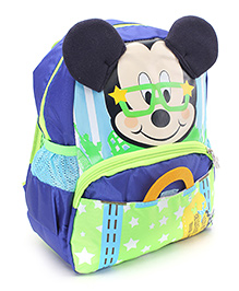 Disney Mickey Mouse Print School Bag Blue - 11 Inches