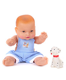 Speedage Cute Baby Doll With Pet Blue - Doll Height 21 Cm