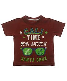 Tickles 4 U Summer Tee Santa Cruz Print - Red