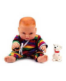 Speedage Cute Baby Doll With Pet - Multicolor