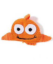 NeedyBee Photography Props Fish Beanies Knitted Cap - Orange