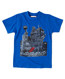 Raine And Jaine Old Is Gold Printed T-Shirt - Blue