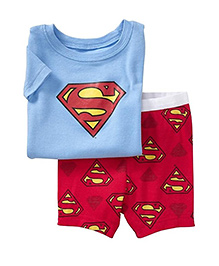 Petite Kids T-Shirt And Shorts Set - Red And Blue