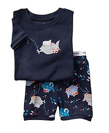 Petite Kids Printed Summerwear Set - Blue