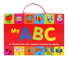 My ABC - 24 Mini Block Books With a Play Board to Practice the Alphabet