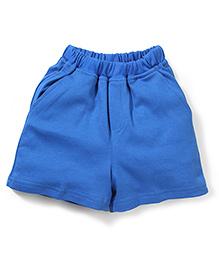 Babyhug Solid Color Shorts - Royal Blue