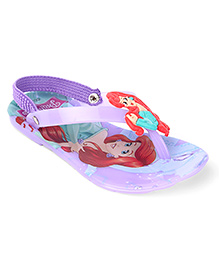 Disney Flip Flops Princess Applique - Purple