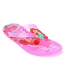 Disney Flip Flops Princess Applique - Pink
