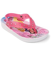 Disney Flip Flops Princess Design - Pink White