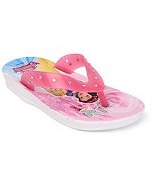 Disney Flip Flops Princess Design- Pink White