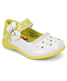 Disney Belly Shoes Bow Applique - Green White