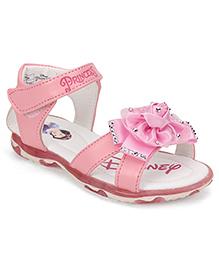Disney Party Wear Sandals Floral Applique - Pink