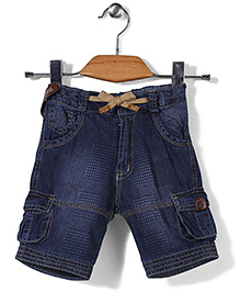 Little Kangaroos Denim Shorts 1996 Print - Blue