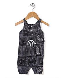 Little Kangaroos Singlet Multi Printed Jumpsuit - Black
