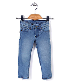 Quick Seven Stylish Denim Pant - Light Blue
