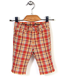 Deeper Checkered Shorts - Orange
